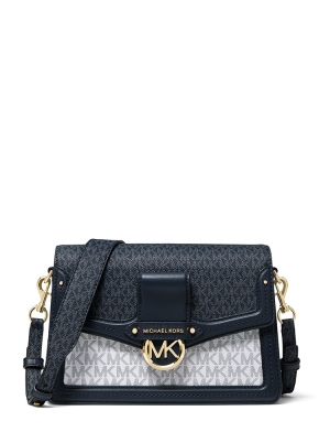 Jessie Medium Two-Tone Logo Shoulder Bag