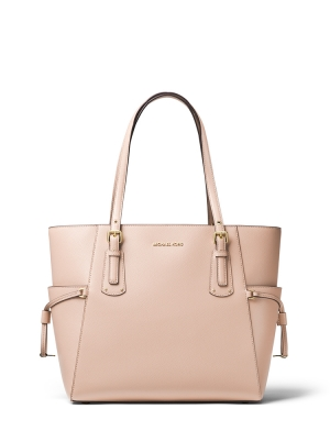 Voyager Medium Crossgrain Leather Tote Bag