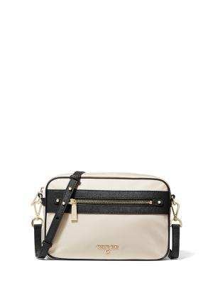 Large Nylon Gabardine Crossbody Bag