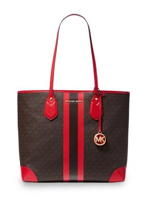 Eva Large Logo Stripe Tote Bag