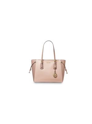 Voyager Medium Two-Tone Crossgrain Leather Tote Bag