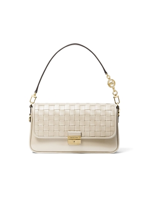 Bradshaw Small Woven Leather Shoulder Bag