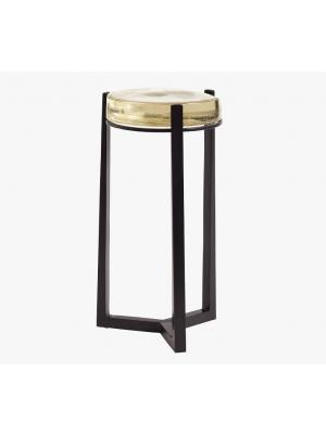 Cori Round Glass Accent Table