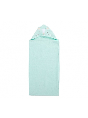 Super Soft Kitty Kids Hooded Towel