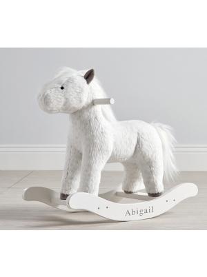 Spotted Horse Plush Nursery Rocker