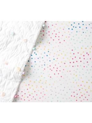 Organic Nadia Dot Fitted Crib Sheet
