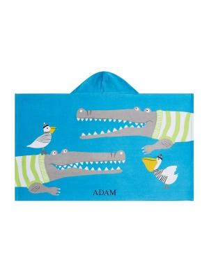 Alligator Kid Beach Hooded Towel