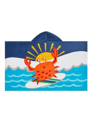 Surf Crab Kid Beach Hooded Towel