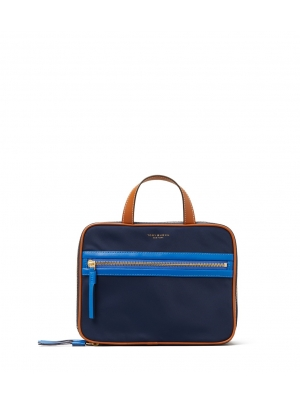 PERRY NYLON COLOR-BLOCK WEEKENDER COSMETIC CASE