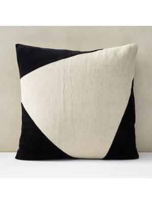 Cotton Linen + Velvet Corners Pillow Cover