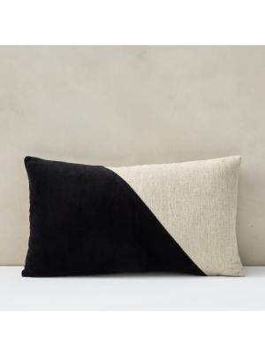 Cotton Linen + Velvet Lumbar Pillow Cover