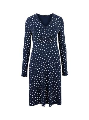 Jersey Polka Dot V-Neck Skater Dress