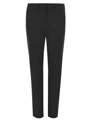 Cotton Slim Fit Ankle Grazer Trousers