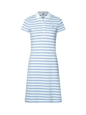 Slim Stripe Polo Dress