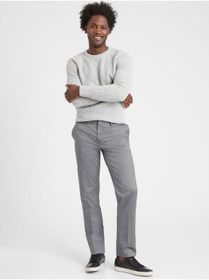 Slim Non-Iron Stretch Cotton Solid Pant