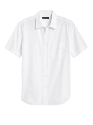 Slim-Fit Seersucker Shirt