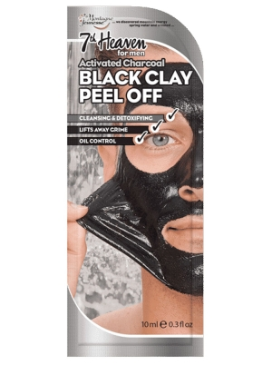 Men's Activated Charcoal Black Clay Peel-Off