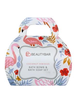 Coconut Hibiscus Bath Bomb & Round Soap