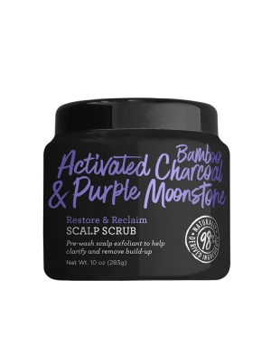 Bamboo Activated Charcoal & Purple Moonstone Restore and Reclaim Scalp Scrub