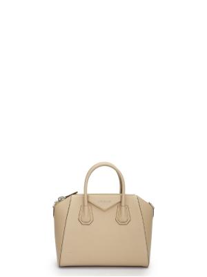 Small Antigona Bag in Grained Leather