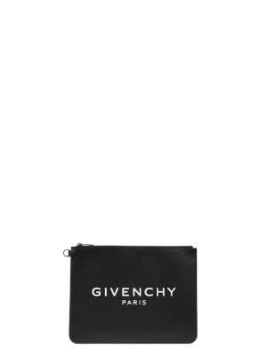 Givenchy Paris Large Zipped Pouch in Leather