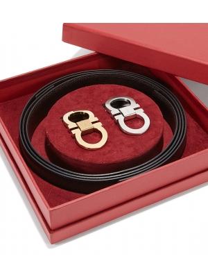 Adjustable Gancini Belt - Gift Box