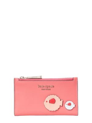 puffy small slim bifold wallet peach melba multi