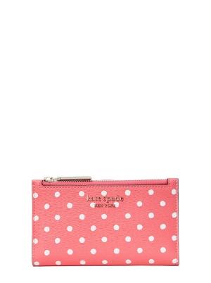 spencer dots small slim bifold wallet peach melba multi