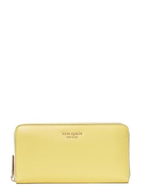 spencer zip around continental wallet yellow sesame
