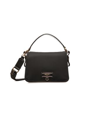 Ekyra Recycled Nylon Cross-Body Bag in Black