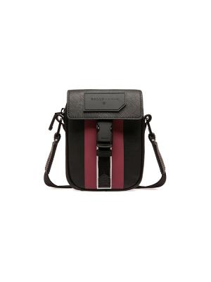 Semmy Coated Canvas Cross-Body Bag in Black