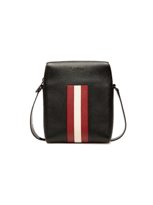 Edoh Leather Cross-Body Bag in Black