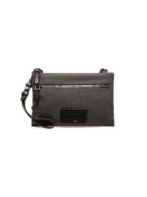 Ramer Nylon Mix Cross-Body Bag in Black