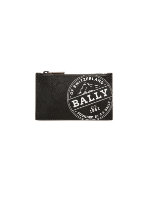 Babe Coated Canvas Card Holder in Black