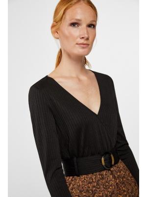 Comfort ribbed jersey-knit dress