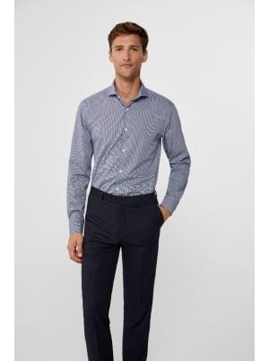 Slim-fit checked dress shirt