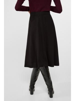 Jersey-knit a-line midi skirt