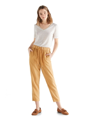 Floaty 100% lyocell coloured trousers