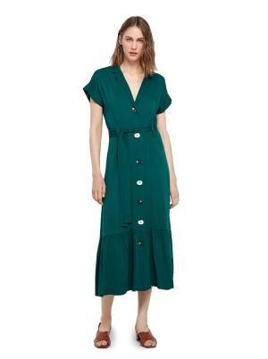 Green tencel dress