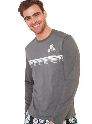 Graphic Long-Sleeve Rashguard for Men