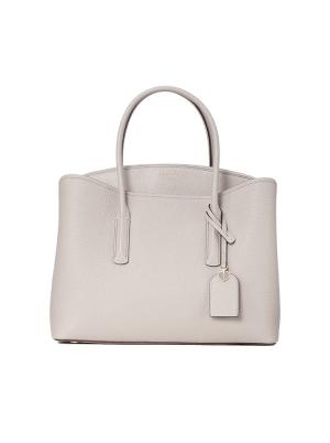 margaux large satchel true taupe