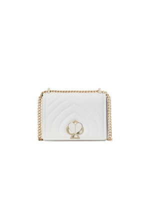 Amelia Twistlock Small  Convertible Chain Shoulder Bag optic white