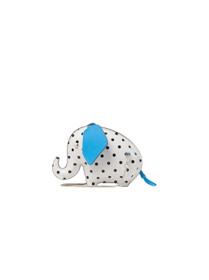 Cabana Dot Tiny Elephant Crossbody Parchment