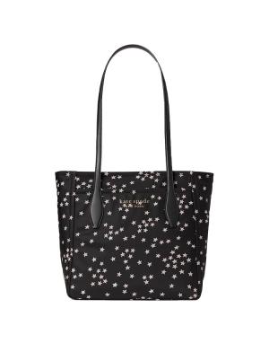 daily confetti stars medium tote black multi