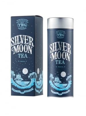 Silver Moon Tea, Loose Leaf Green Tea in Haute Couture Tea Tin, 100g