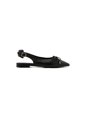 Slingback Bow Pointed Ballet Flats