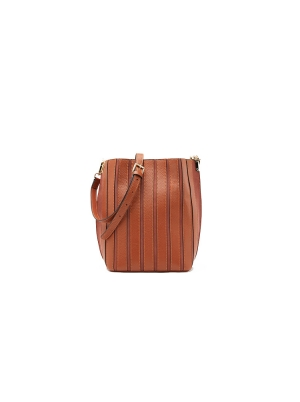 Chain Leather Bucket Shoulder Bag