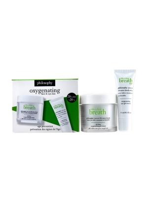 Take A Deep Breath Oxygenating Face & Eye Duo: Face Gel Cream 60ml + Eye Gel Cream 15ml