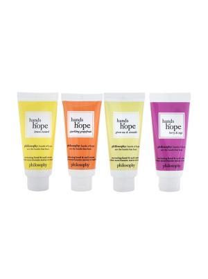 Hope For All Nurturing Hand & Nail Cream 4-Pieces Set: Lemon Custard 30ml + Sparkling Grapefruit 30ml + Green Tea & Avocado 30ml + Berry & Sage 30ml