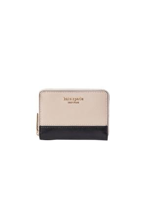 spencer zip cardholder warm beige/black